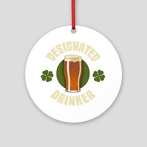 designated-drinker-DKT Round Ornament