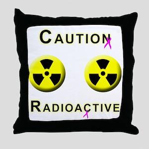 Caution Radioactive Throw Pillow
