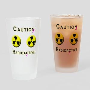 Caution Radioactive Drinking Glass