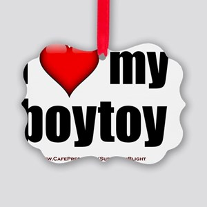 I Love My Boytoy lightapparel Picture Ornament