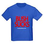 """""""Bush Sucks"""" Kids Dark T-Shirt"""