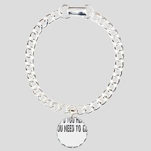 GET STRONGER - BLACK Charm Bracelet, One Charm