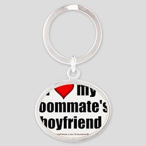 I Love My Roommates Boyfriend lighta Oval Keychain