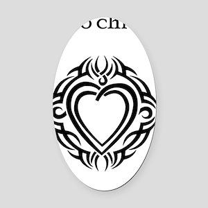 Mo Chroi, My Heart Oval Car Magnet