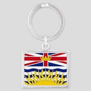 British Columbian Flag Landscape Keychain