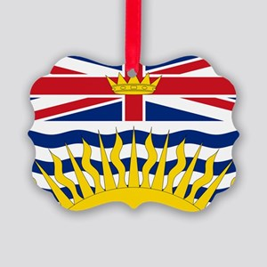 British Columbian Flag Picture Ornament