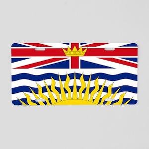 British Columbian Flag Aluminum License Plate
