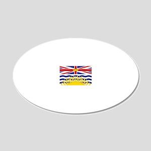 British Columbian Flag 20x12 Oval Wall Decal