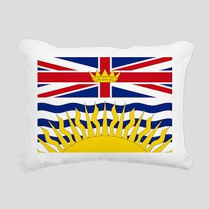 British Columbian Flag Rectangular Canvas Pillow