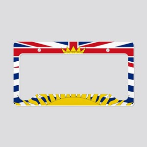British Columbian Flag License Plate Holder