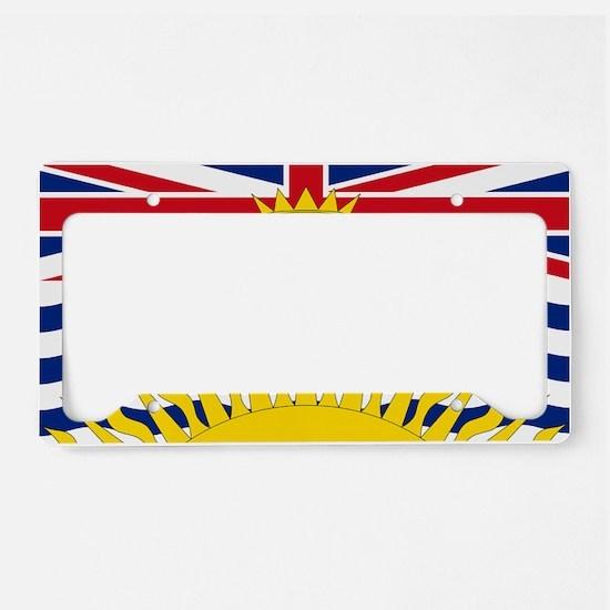 British Columbian Flag License Plate Holder
