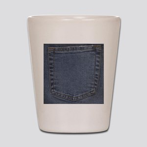 Blue Denim Pocket Shot Glass