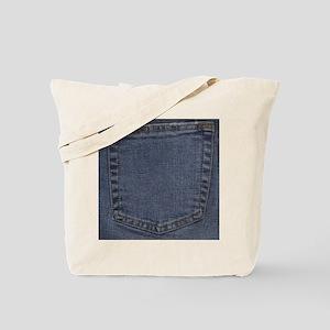 Blue Denim Pocket Tote Bag