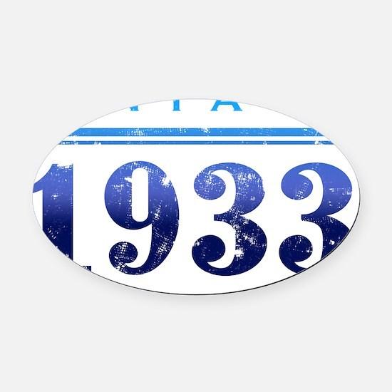Vintage 1933 (Midnight) Oval Car Magnet