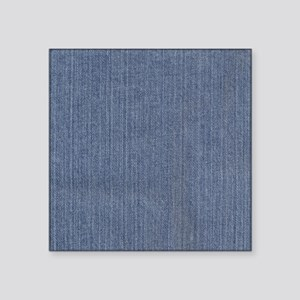 "Blue Denim Square Sticker 3"" x 3"""