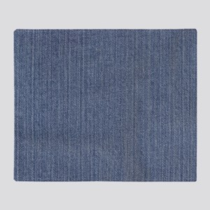 Blue Denim Throw Blanket