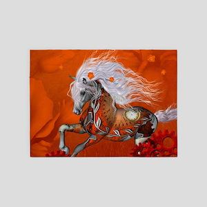 Steampunk, wonderful wild steampunk horse 5'x7'Are