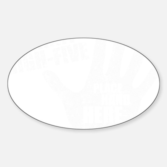 High-Five Sticker (Oval)