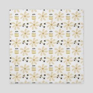 Bees and Flowers Queen Duvet