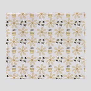 Bees and Flowers Throw Blanket