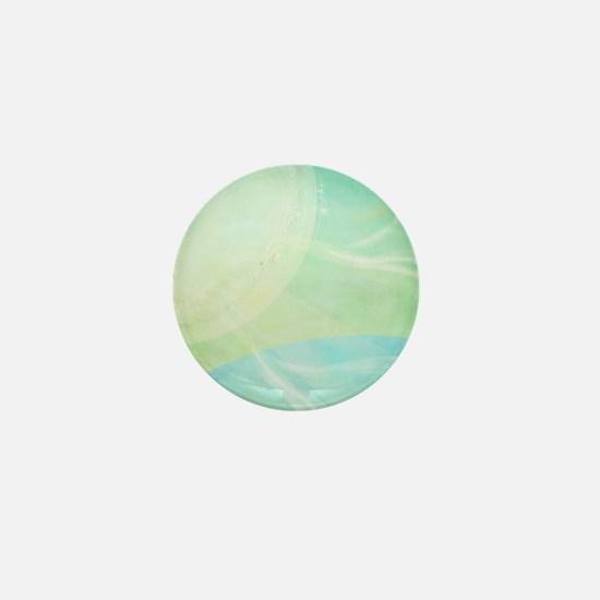 Aqua and Lime Abstract Mini Button