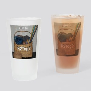 Would You Like To K2tog? Drinking Glass