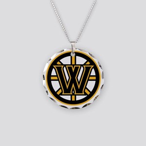 Wormtown_Bruins_Logo Necklace Circle Charm