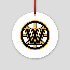 Wormtown_Bruins_Logo Round Ornament