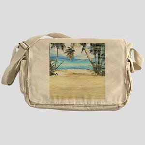 Tropical Island Sea Messenger Bag