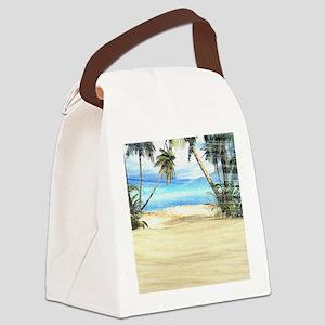 Tropical Island Sea Canvas Lunch Bag