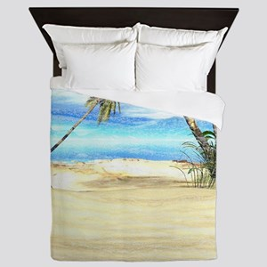 Tropical Island Sea Queen Duvet