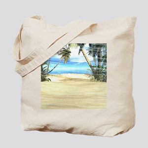 Tropical Island Sea Tote Bag