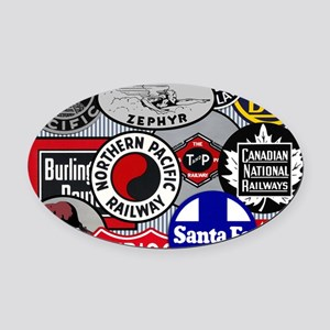 Railroad Oval Car Magnet