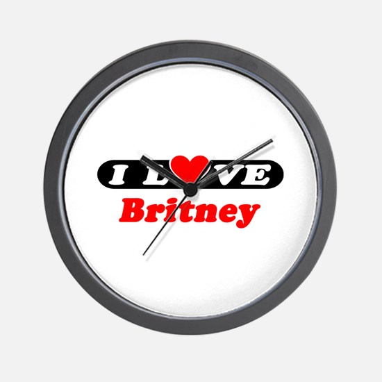 I Love Britney Wall Clock