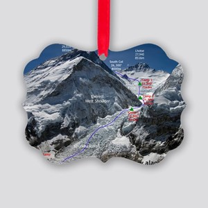 Mt. Everest Southeast Ridge Route Picture Ornament