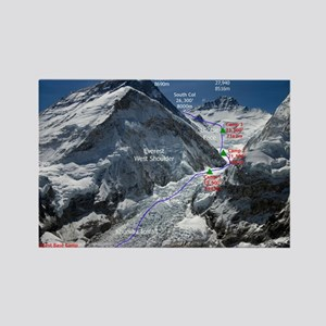 Mt. Everest Southeast Ridge Route Rectangle Magnet