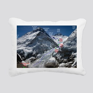 Mt. Everest Southeast Ri Rectangular Canvas Pillow