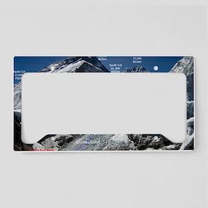 Mt. Everest Southeast Ridge R License Plate Holder