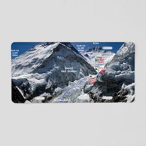Mt. Everest Southeast Ridge Aluminum License Plate