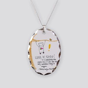 Persistence Necklace Oval Charm