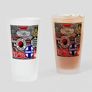 Train logos Drinking Glass