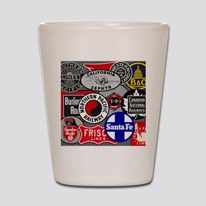 Train logos Shot Glass