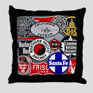 Train logos Throw Pillow
