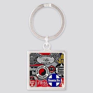 Train logos Square Keychain
