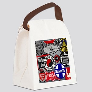 Train logos Canvas Lunch Bag