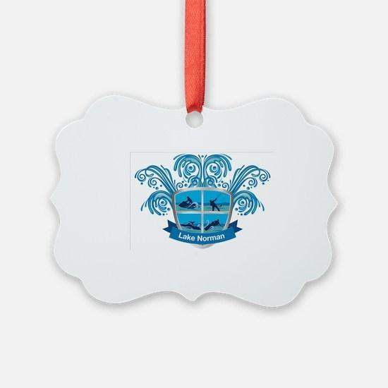 Lake Norman Splash Logo - LKN Ornament