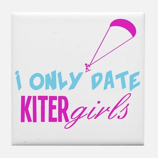 I Only Date Kiter Girls Tile Coaster