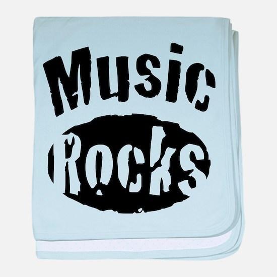 Music Rocks baby blanket