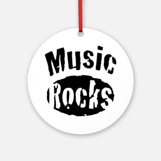 Music Rocks Round Ornament