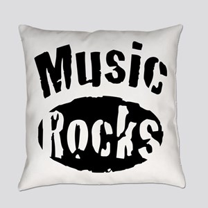 Music Rocks Everyday Pillow